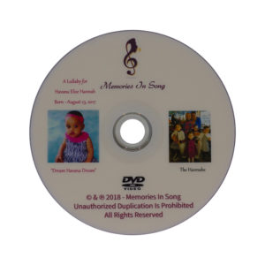 DVD photo albums for newborn babies