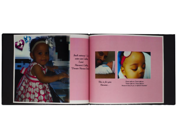 Customized baby photo albums for girls