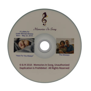 CD with a personalized lullaby
