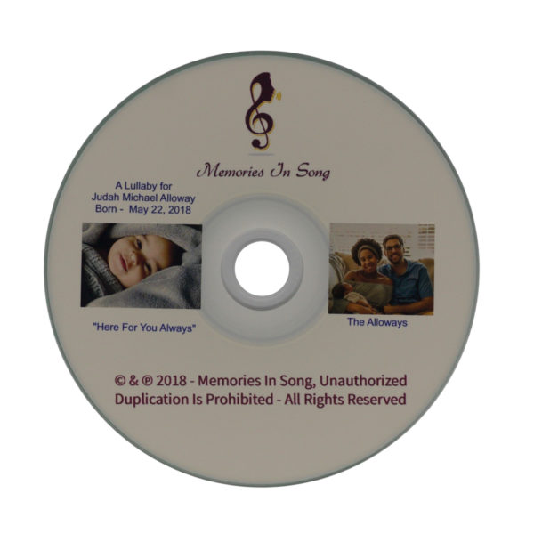 CD with a personalized lullaby in Richmond, VA