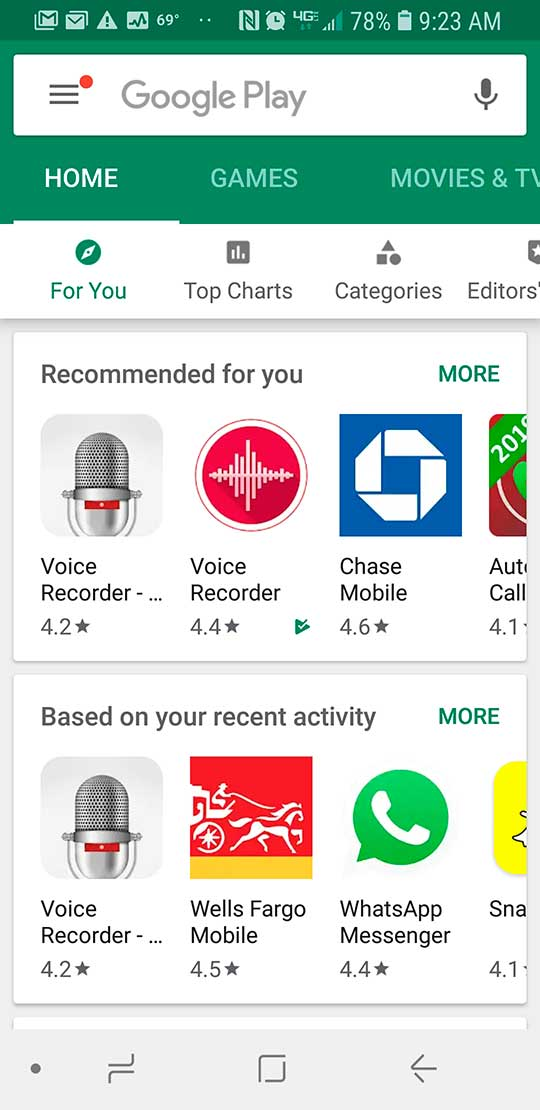 Step 1 android voice recording